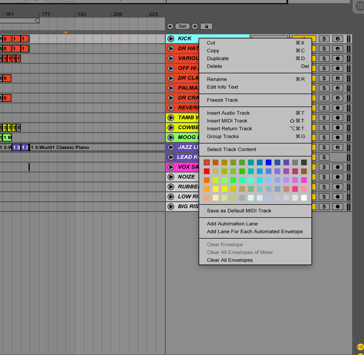 Ableton Colors