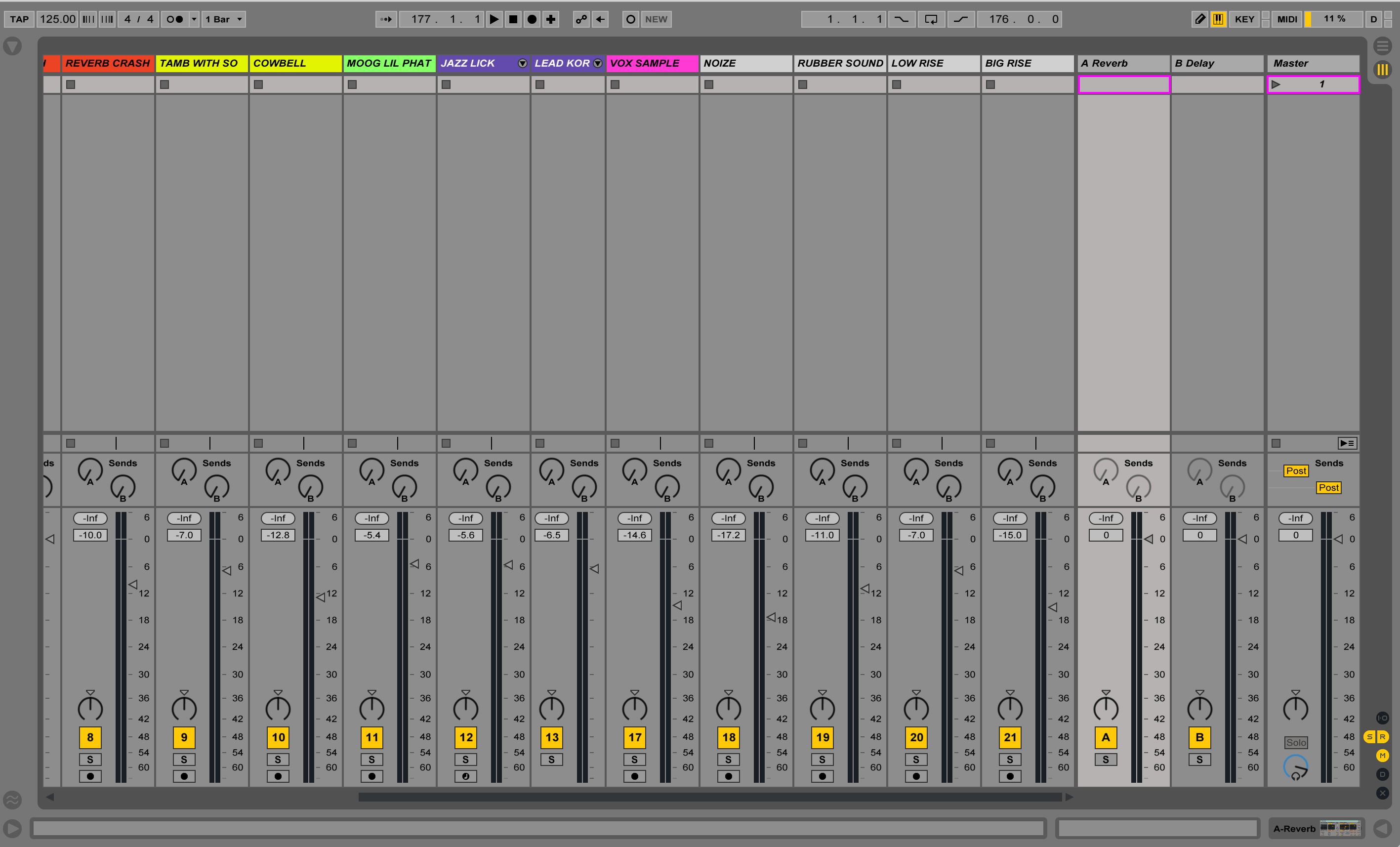 Session View Mix Session